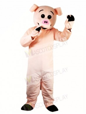 Cute Pink Pig Mascot Costumes Farm Animal
