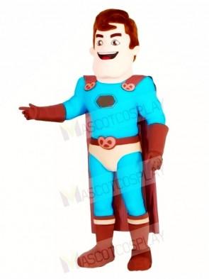 Super Hero with Brown Cloak Mascot Costumes People