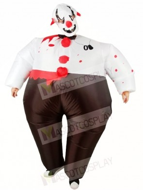 Evil Clown Inflatable Halloween Christmas Holiday Costumes for Adults