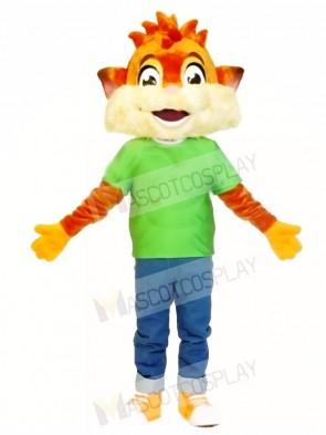 Fox in Green Shirt Mascot Costumes Animal