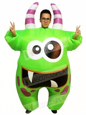 Big Mouth Green Monster Inflatable Halloween Xmas Costumes for Adults