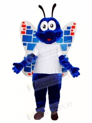 Blue Butterfly Mascot Costumes Insect
