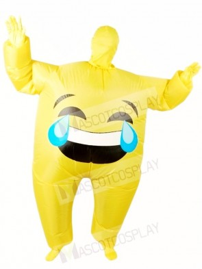 Emoji Cry Inflatable Halloween Xmas Blow up Costumes for Adults