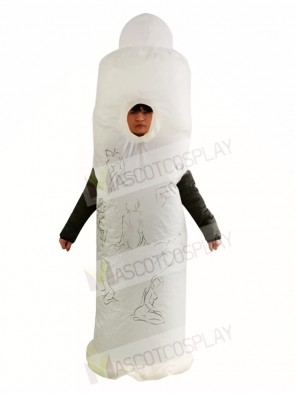 Condom Inflatable Halloween Blow Up Costumes for Adults