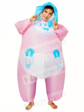 Infant Baby Diaper Inflatable Halloween Blow Up Costumes for Adults