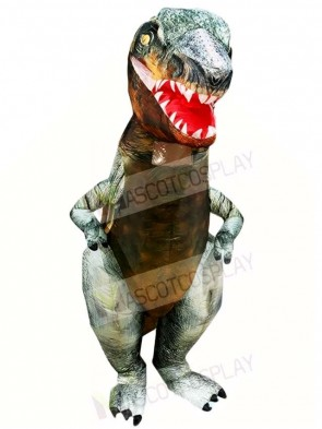 Real Tyrannosaurus T-REX Dinosaur Inflatable Halloween Christmas Costumes for Adults