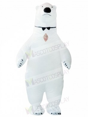 White Polar Bear Inflatable Halloween Christmas Holiday Costumes for Adults