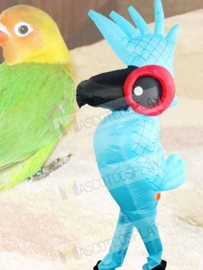 Rio Blue Parrot Bird Inflatable Halloween Xmas Blow Up Costumes for Adults