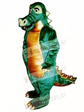 Spiked Alligator Mascot Costume