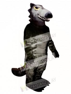 Black Dino Mascot Costume