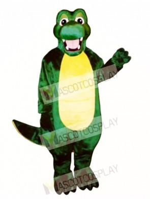 Happy Alligator Mascot Costume