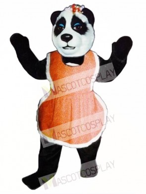 Mrs. Panda with Apron Mascot Costume