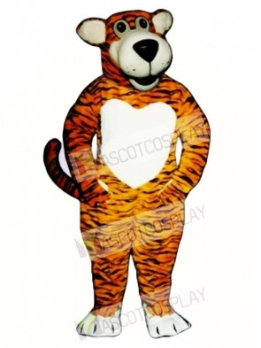Cute Smiling Tiger Mascot Costume