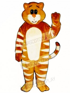 Cute Stripe Cat Mascot Costume
