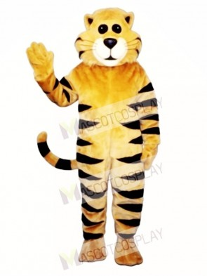 Cute Tan Meow Cat Mascot Costume