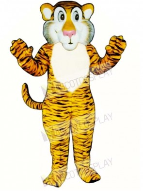 Cute Shy Tiger Mascot Costume