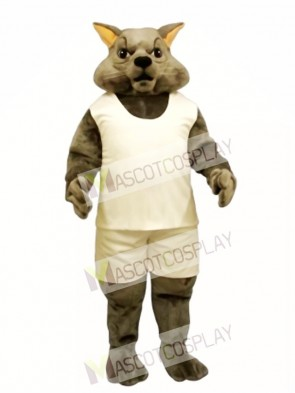 Cute Tough Tom Cat with Tank & Shorts Mascot Costume