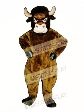 Cartoon Bull Mascot Costume