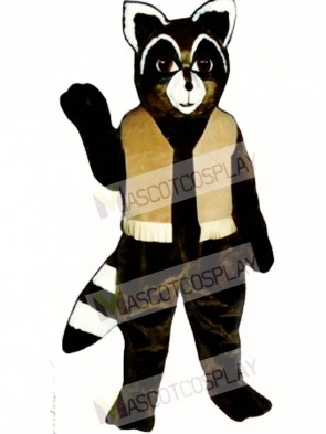 Ryan Raccoon with Vest Mascot Costume