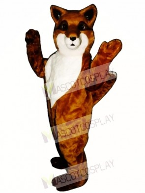 Cute Friendly Fox Mascot Costume