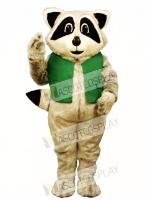 Raccoon with Vest Mascot Costume