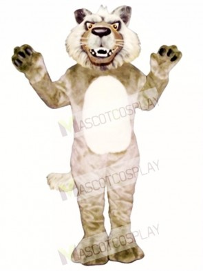 Cute Growling Wolf Mascot Costume