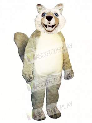 Cute Smiling Wolf Mascot Costume