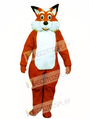 Cute Fred Fox Mascot Costume