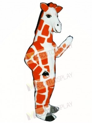 Red Giraffe Mascot Costume
