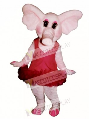 Elphie Elephant with Tu Tu Mascot Costume
