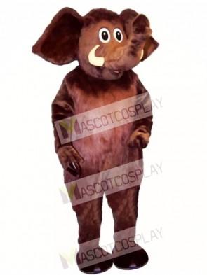 Monty Mammoth Elephant Mascot Costume