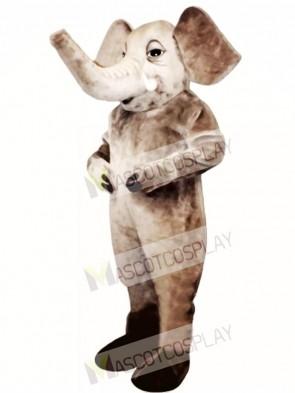 Tusked Elephant Mascot Costume