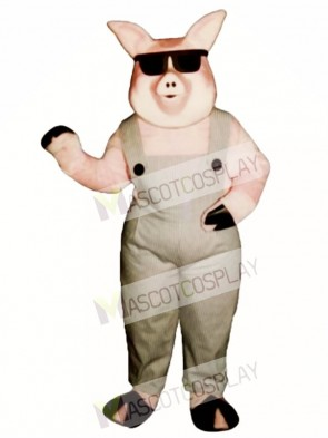 Far-Out Farmer Pig Mascot Costume