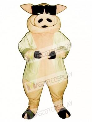 Heavy Hog Pig Piglet Mascot Costume