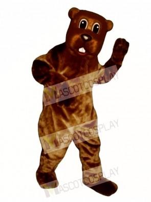 Woody Beaver Mascot Costume