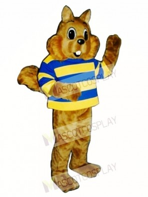 Sunny Squirrel with Shirt Mascot Costume