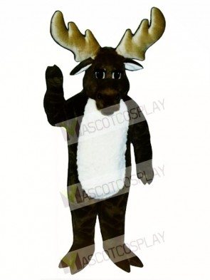 Cute Monty Moose Mascot Costume
