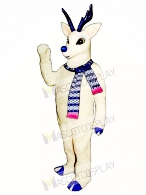 Cute Snow Deer with Scarf Mascot Costume