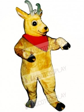 Cute Andy Antelope with Neckerchief Mascot Costume