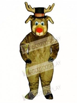 Cute Roscoe Deer with Hat Christmas Mascot Costume