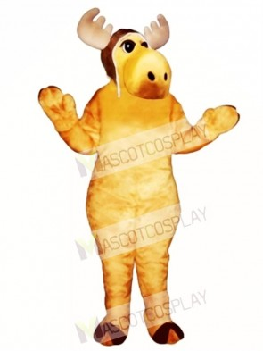 Cute Flying Moose with Hat Mascot Costume