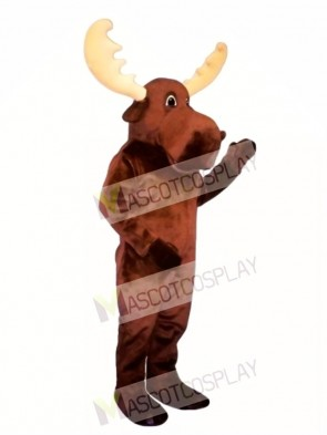 Cute Bull Moose Mascot Costume