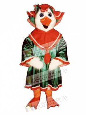 Holiday Goose with Dress & Hat Christmas Mascot Costume