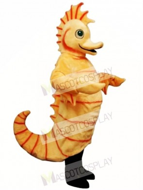 Cute Cartoon Seahorse Mascot Costume