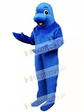 Cute Blue Fish Mascot Costume