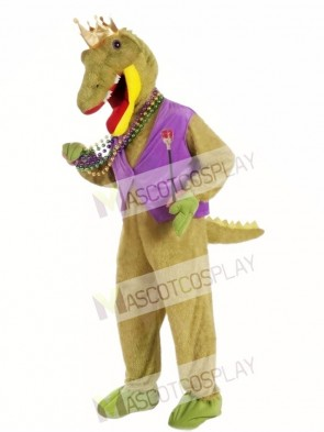 Mardi Gras Alligator King Mascot Costume