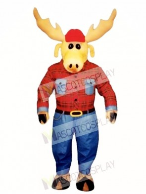 Cute Montana Moose Mascot Costume