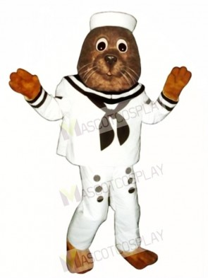 Cute Sailing Otter Mascot Costume