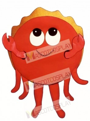 Cute Happy Crab Mascot Costume