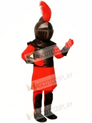 Red Knight Mascot Costume